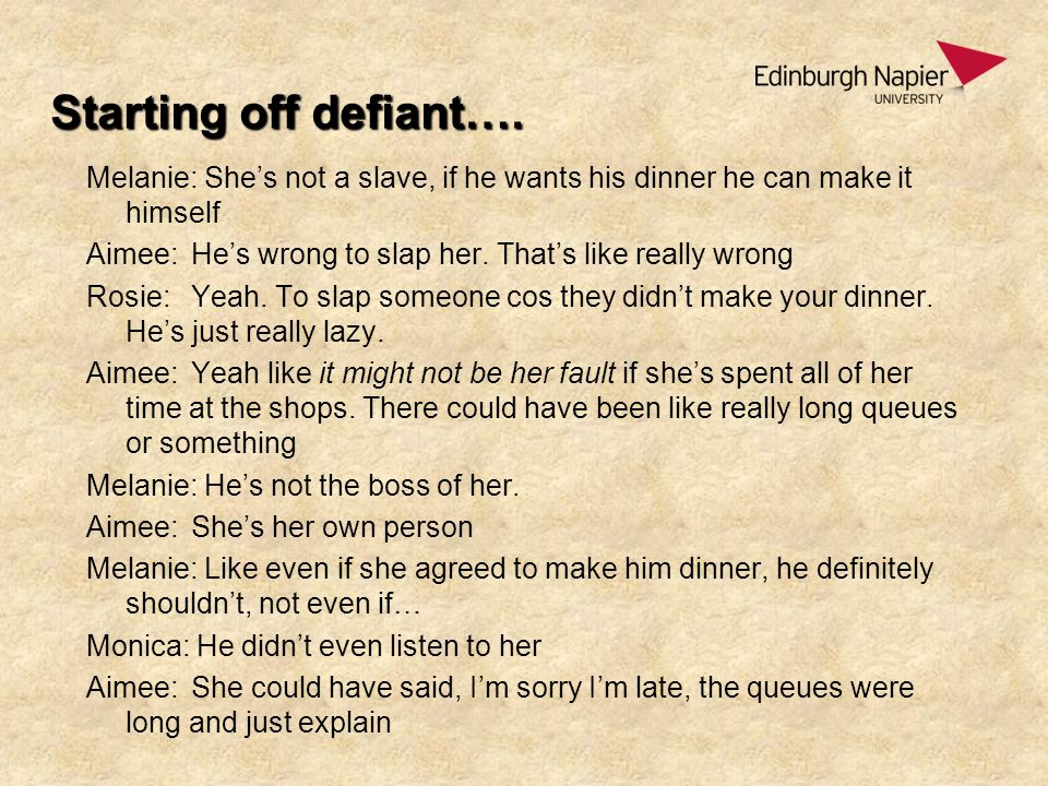 Starting off defiant….