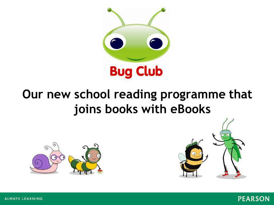 Our new school reading programme that joins books with eBooks