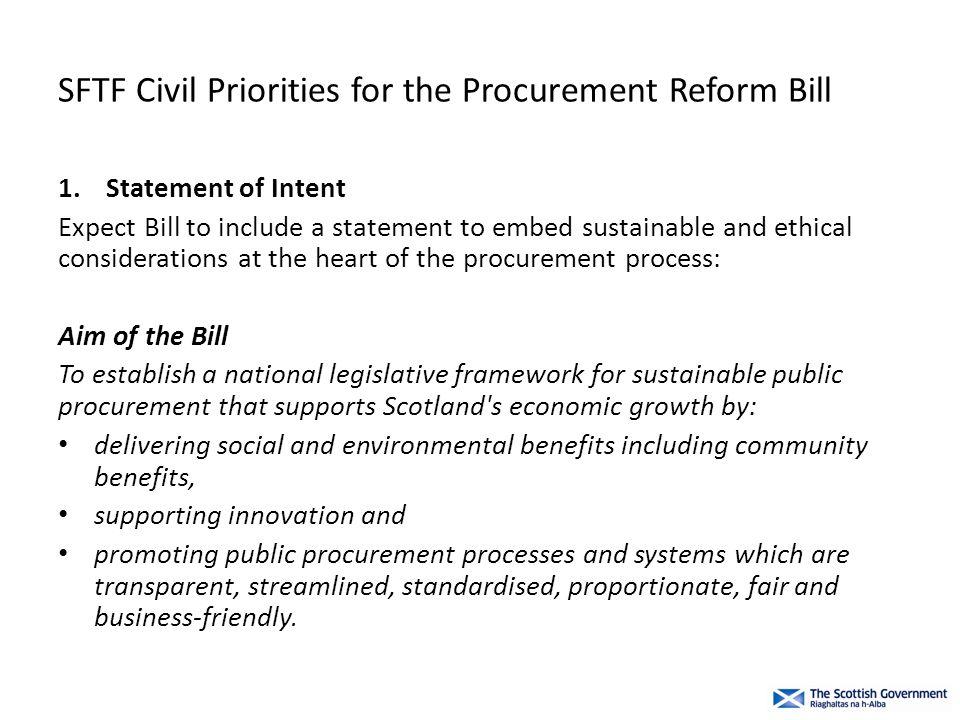 SFTF Civil Priorities for the Procurement Reform Bill 10.