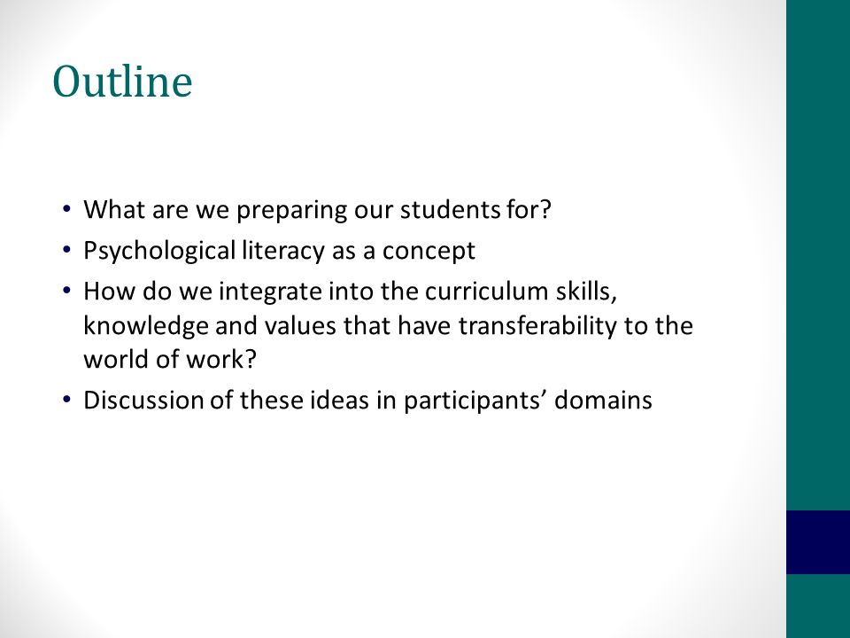 So, how do we better prepare students for the 'real world'.
