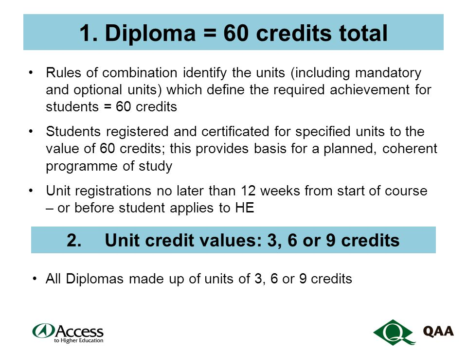 3.Academic subject content a.unit content (as expressed in the learning outcomes) must relate to knowledge and skills of subjects identified in title of the Diploma b.students supported/ assessed on unit by subject expert c.includes knowledge and skills related to all Access to HE Diploma subjects – eg Multi-Media as well as History d.not study skills, personal development, or generic English or mathematics units, but can include specialist (eg Maths for engineering) and technical (eg lab skills)
