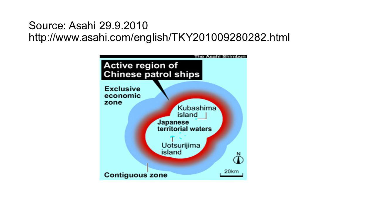 Source: Asahi 29.9.2010 http://www.asahi.com/english/TKY201009280282.html