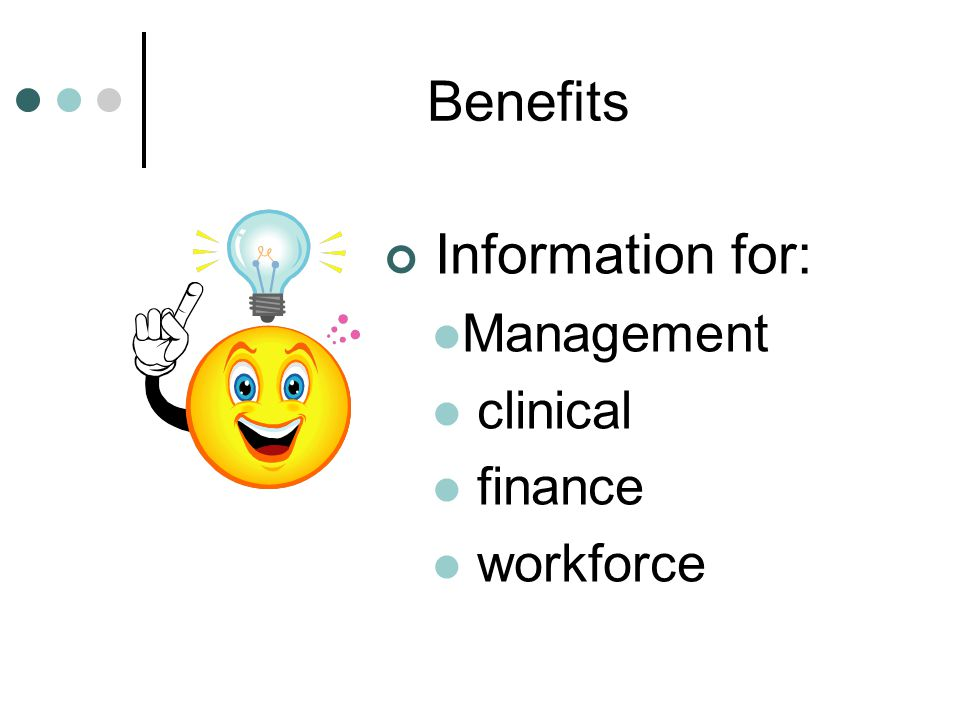 Benefits Information for: Management clinical finance workforce