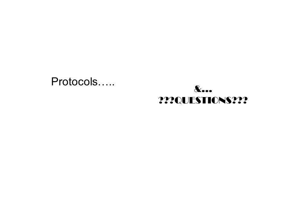 Protocols….. &… QUESTIONS