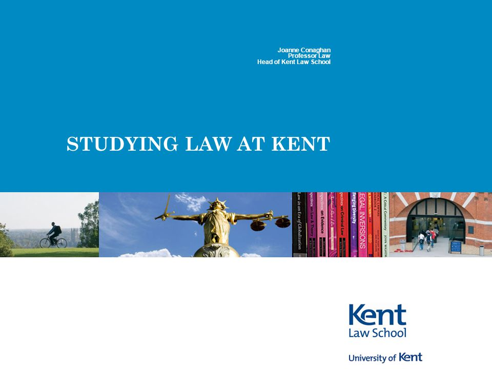 2 Basic stats Total of 1,200+ students at Canterbury, 160 at Medway Undergraduate entry of 300+, rest postgraduate LLM/PhD Around 25% non-UK students 50 academics, 20 support staff, 25 sessional teachers Very strong in research – rated 5 in Research Assessment Exercise 2001 (2008 results pending)