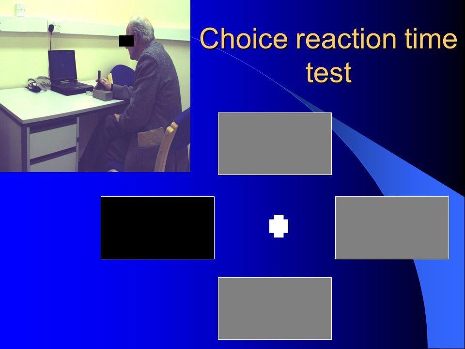 Choice reaction time test