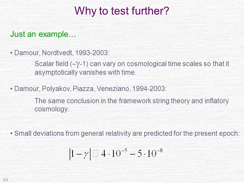 10 Why to test further.