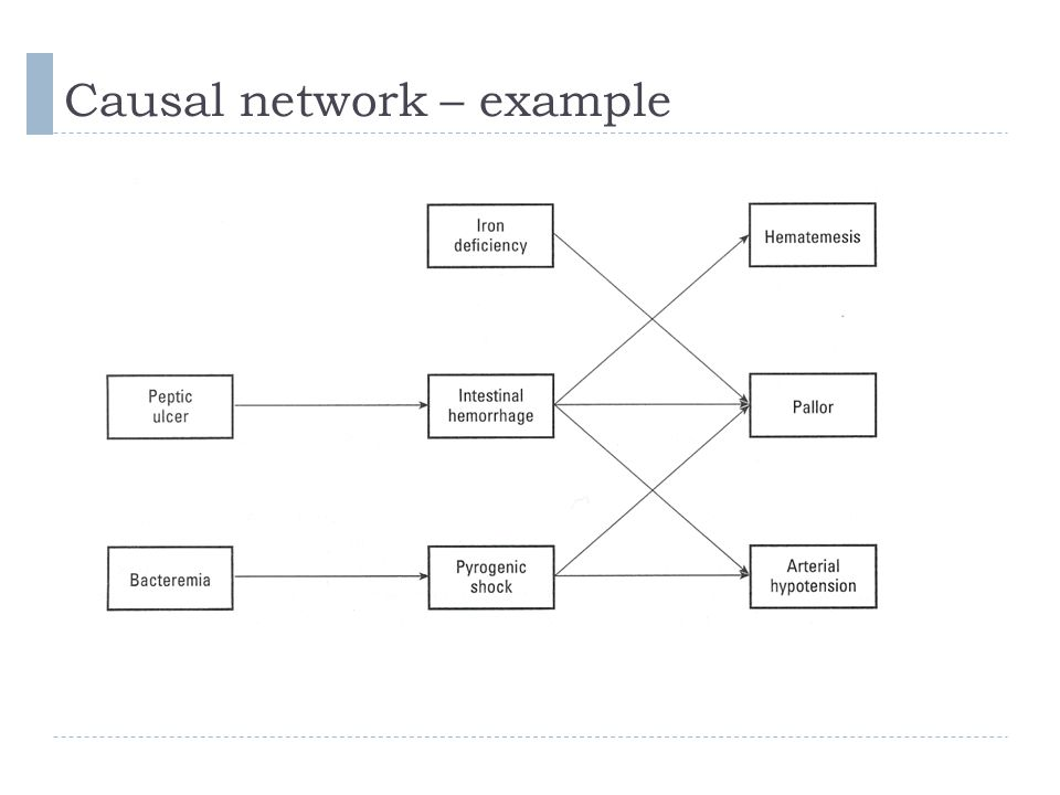 Causal network – example