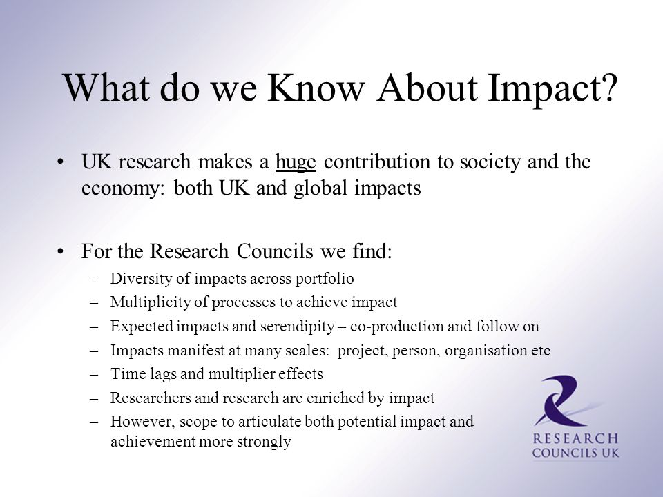 What do we Know About Impact.