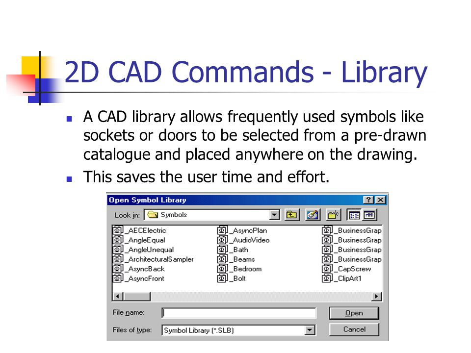 2D CAD Commands - Chamfer This is when the user adds a 45° line to a corner.