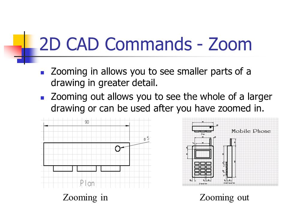 2D CAD Commands - Line Types You can draw the different line types needed for your drawing simply by selecting the line and selecting a line type for it.