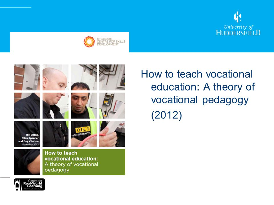 How to teach vocational education: A theory of vocational pedagogy (2012)