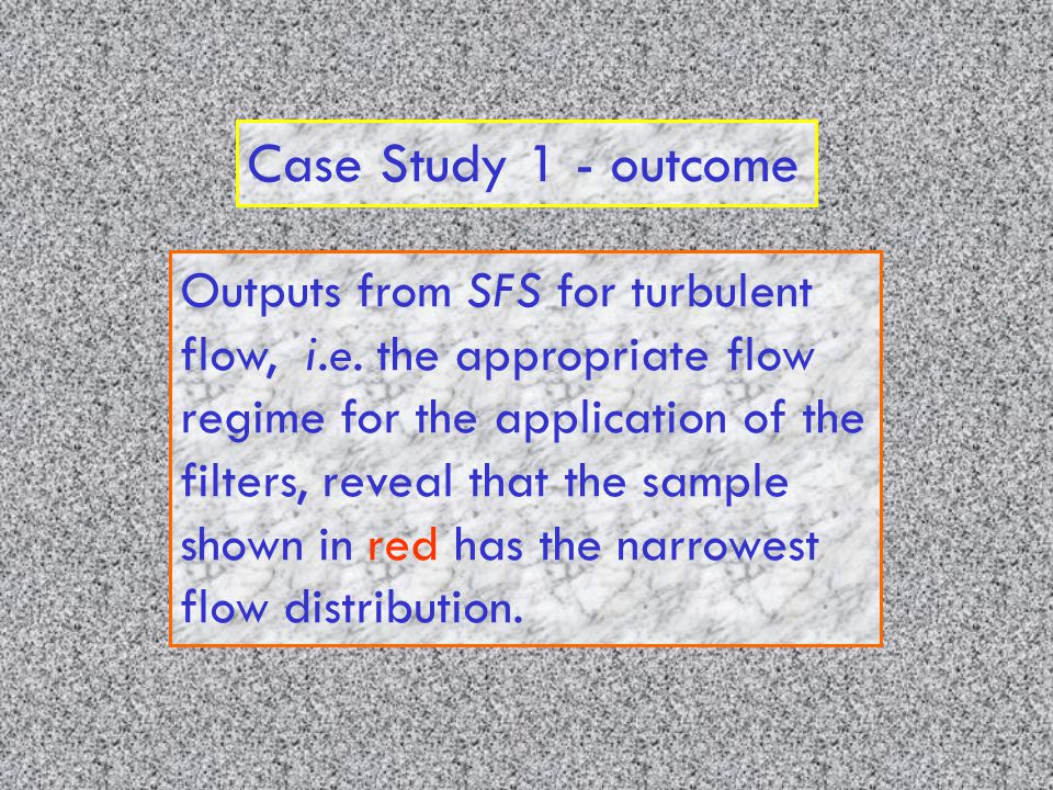 Case Study 1 - outcome Outputs from SFS for turbulent flow, i.e.