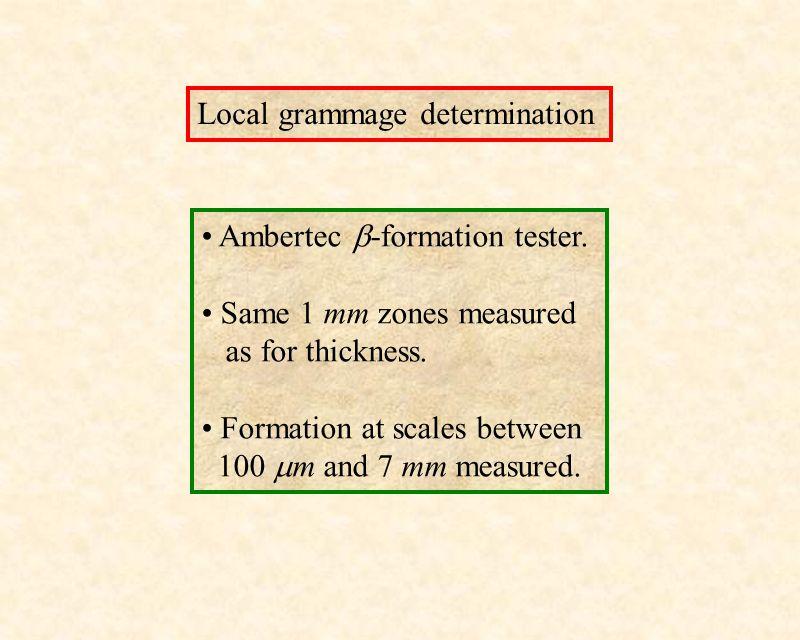 Local grammage determination Ambertec  -formation tester.