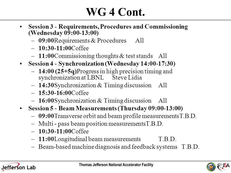 WG 4 Cont.