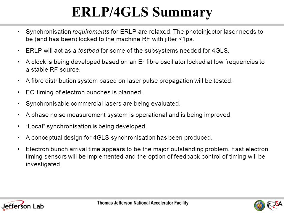 ERLP/4GLS Summary Synchronisation requirements for ERLP are relaxed.