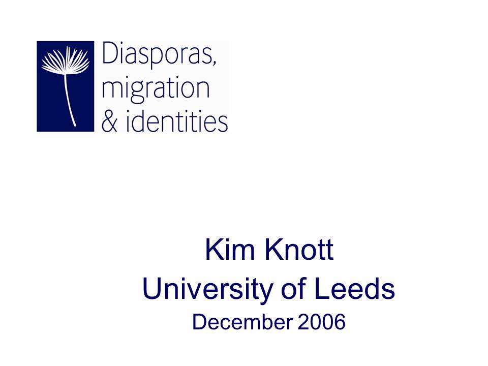 Kim Knott University of Leeds December 2006