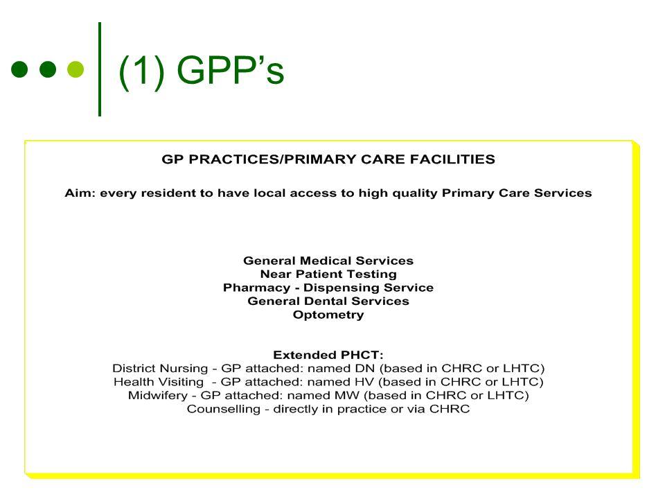 (1) GPP's