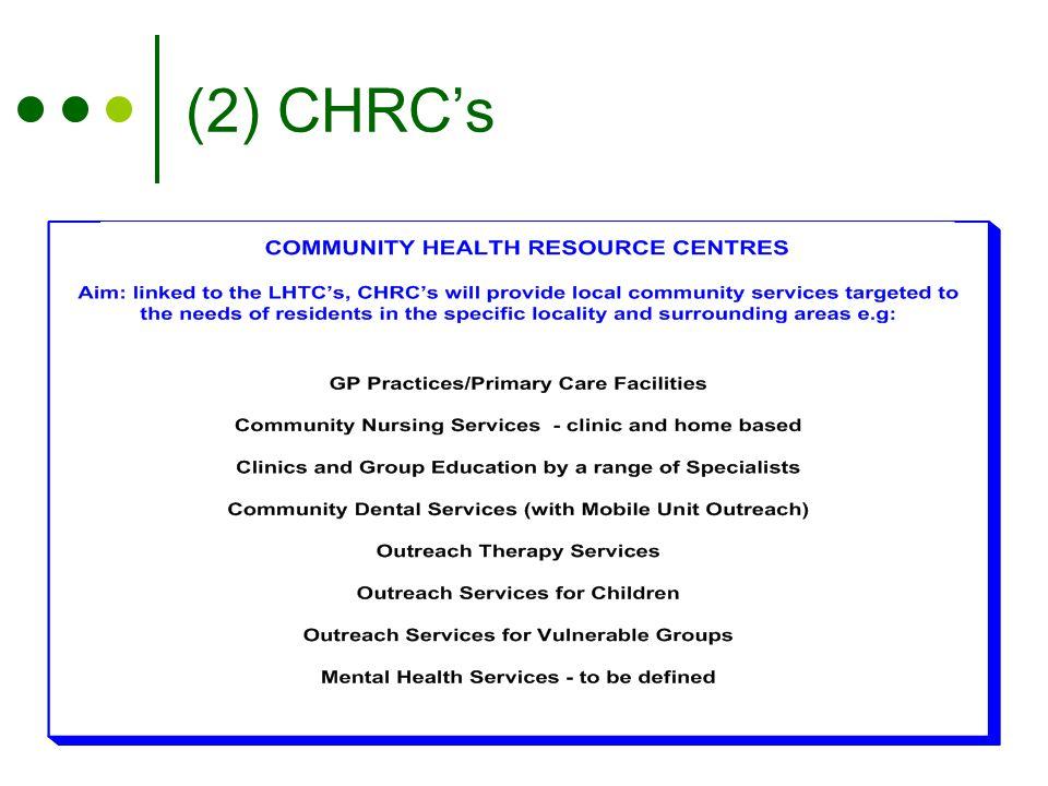 (2) CHRC's