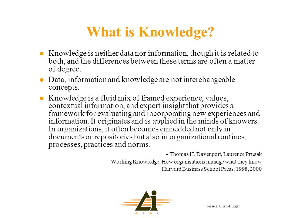 Jessica Chen-Burger What is Knowledge.