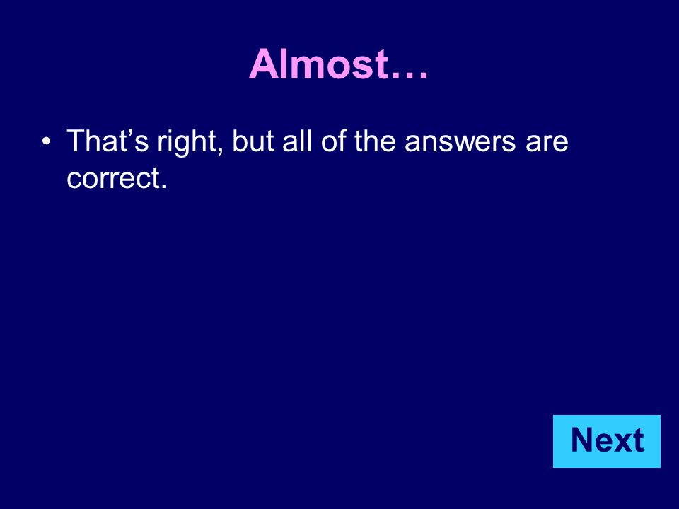 Look at the website on the next page and click on the title of the webpage. Question 5 Next