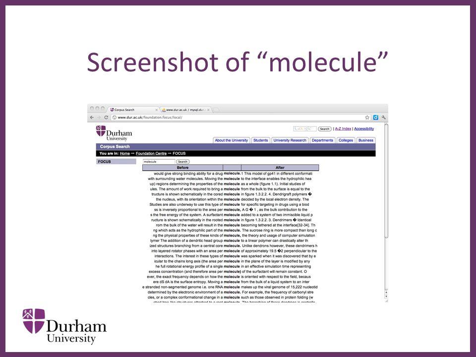∂ Screenshot of molecule