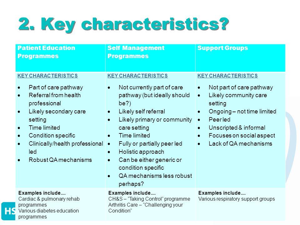 2. Key characteristics.