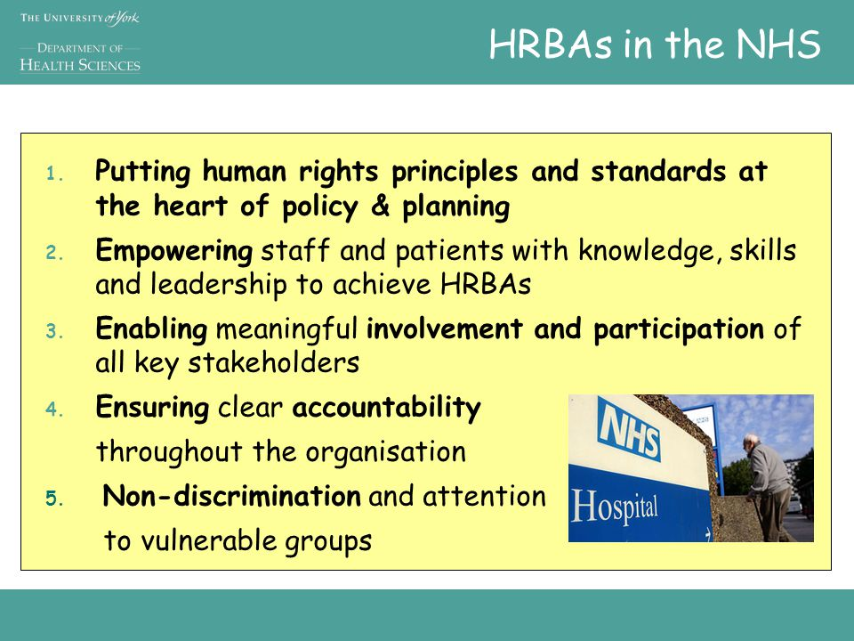 HRBAs in the NHS 1.