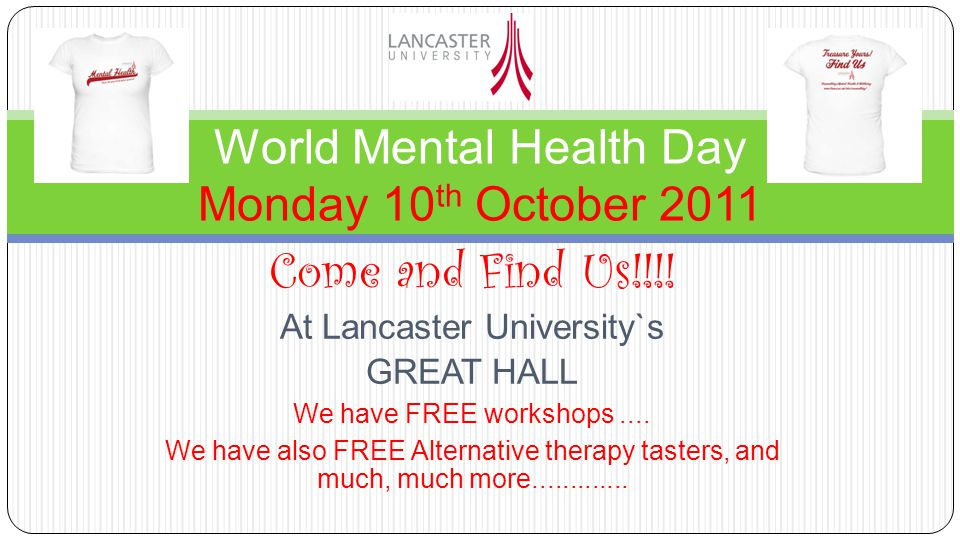Come and Find Us!!!. At Lancaster University`s GREAT HALL We have FREE workshops....