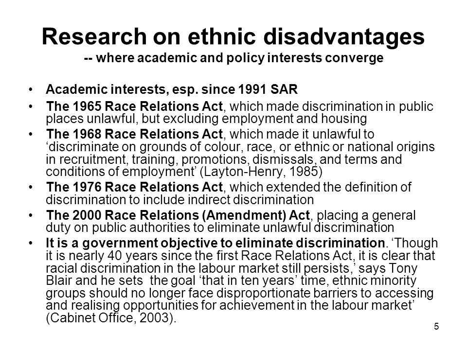 6 Distributions of Ethnic Groups in Britain 1972-2005