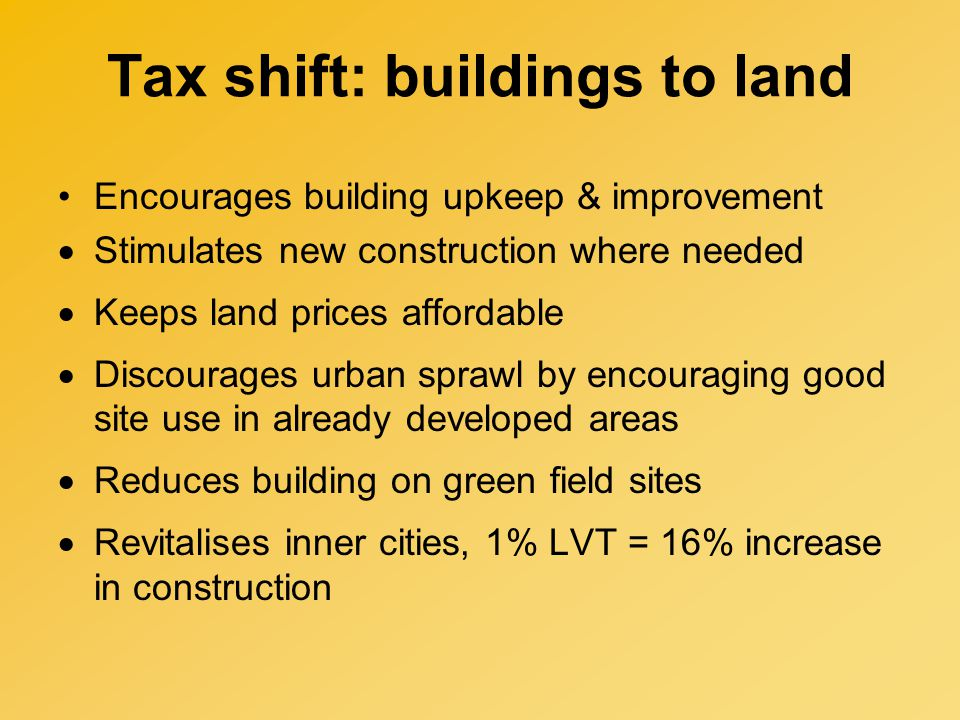 Lo-Tax aims to replace 3 Property Taxes Council Tax is very regressive, highest Band is only 3x lowest Band.