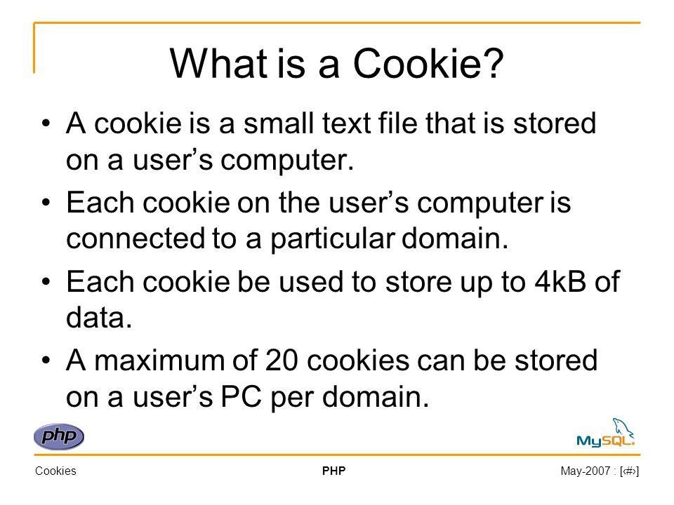 CookiesPHPMay-2007 : [‹#›] Example (1) 1.