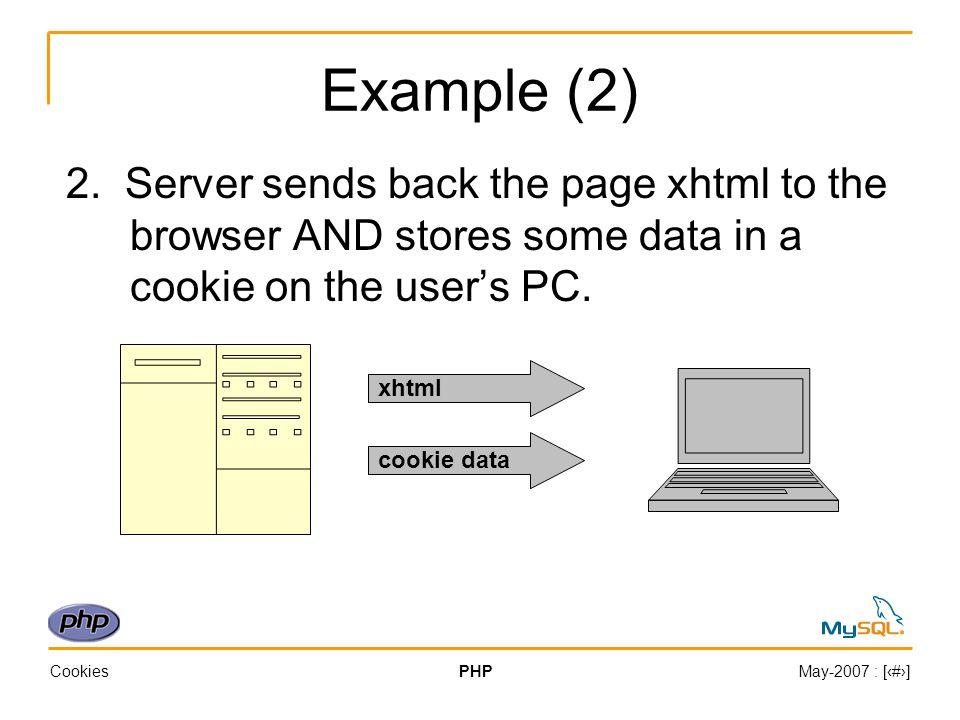 CookiesPHPMay-2007 : [‹#›] Example (1) 3.