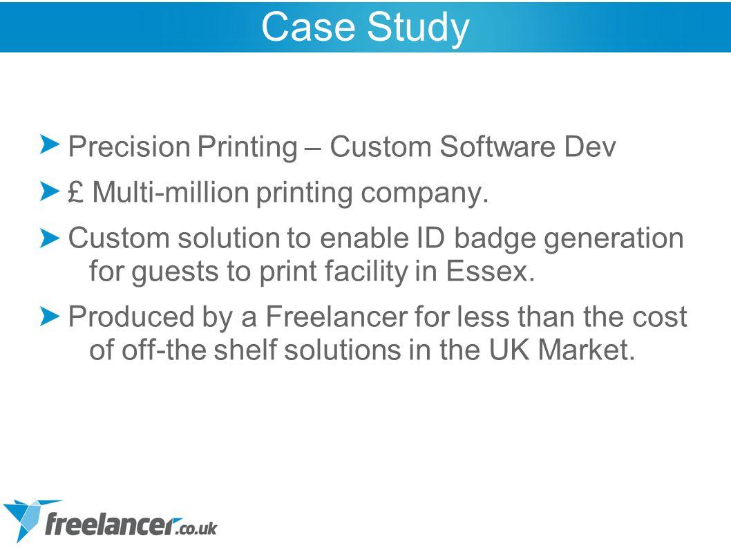 Precision Printing – Custom Software Dev £ Multi-million printing company.