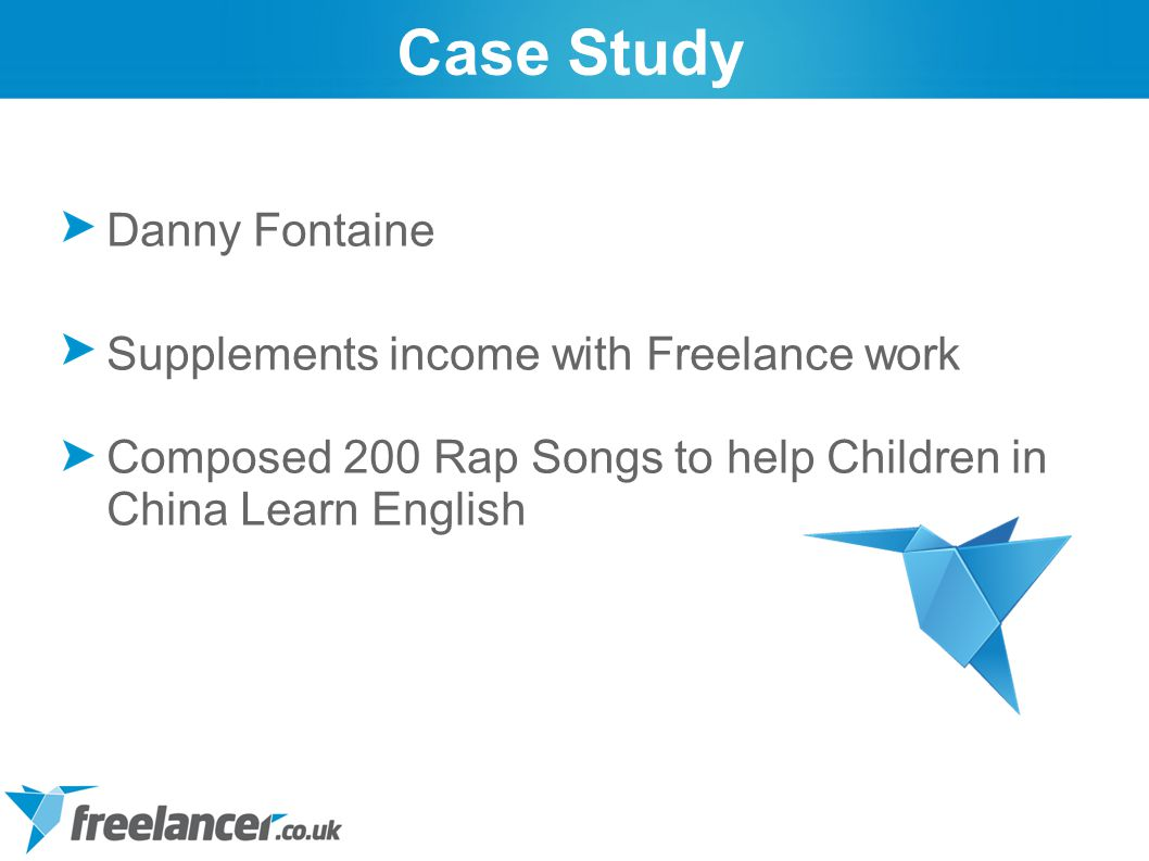 Danny Fontaine Supplements income with Freelance work Composed 200 Rap Songs to help Children in China Learn English