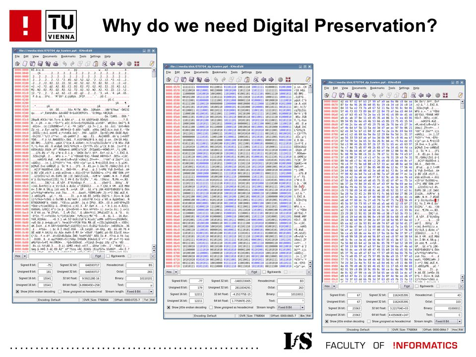 ................................................. Why do we need Digital Preservation?