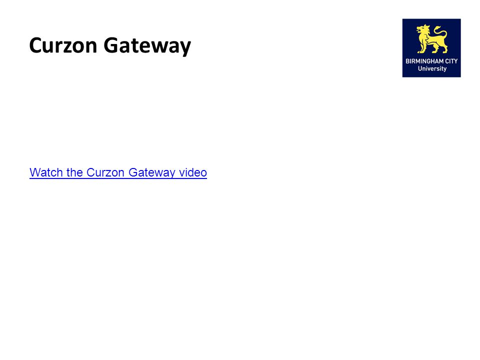 Curzon Gateway Watch the Curzon Gateway video