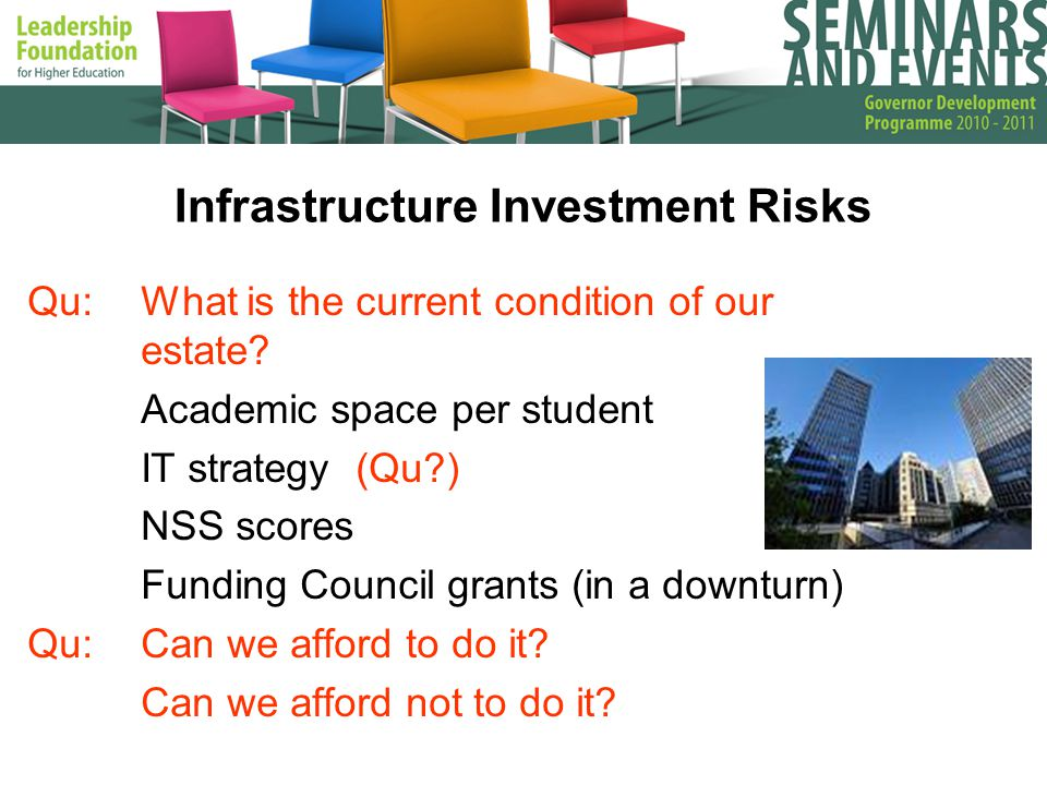 Infrastructure Investment Risks Qu:What is the current condition of our estate.