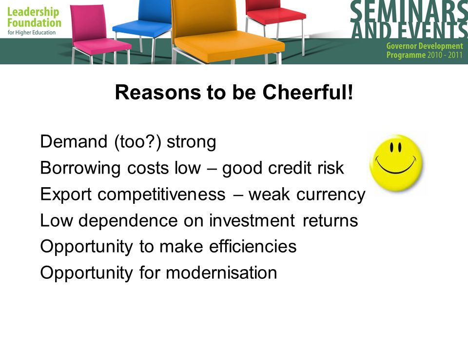 Reasons to be Cheerful.