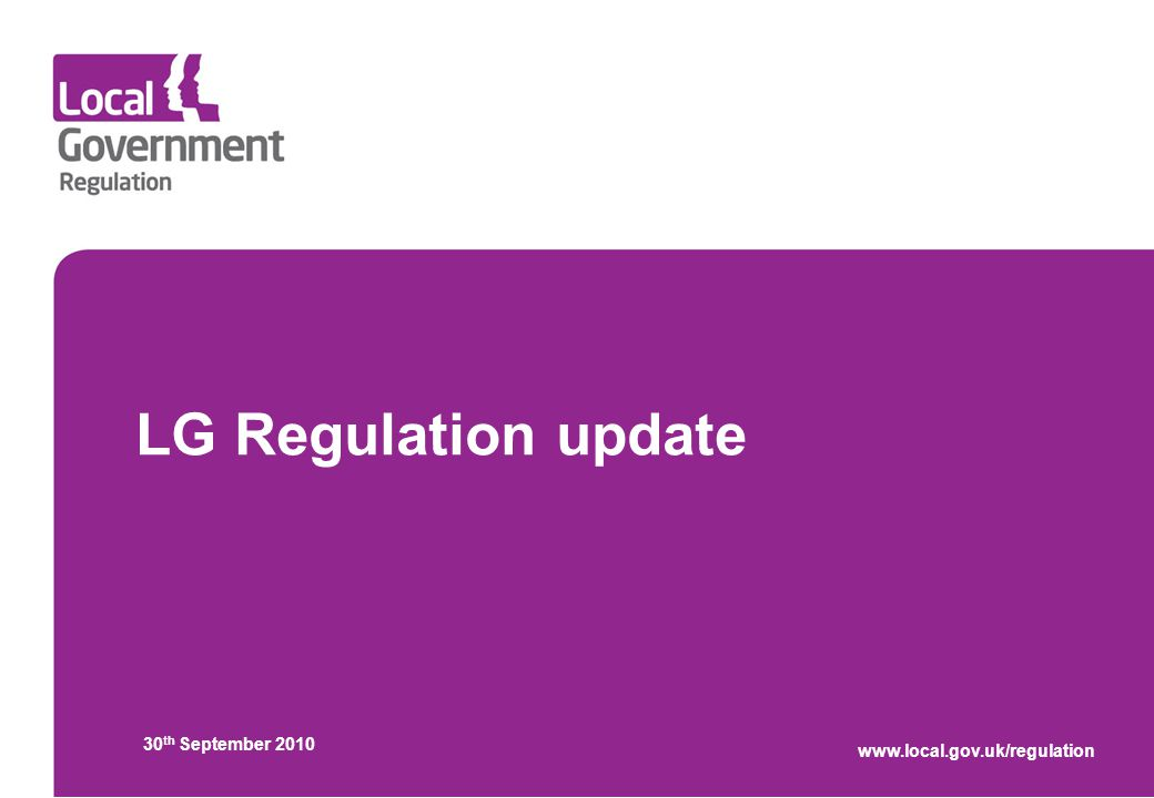 LG Regulation update 30 th September