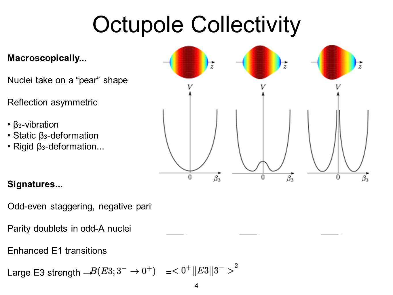 4 Octupole Collectivity Macroscopically...