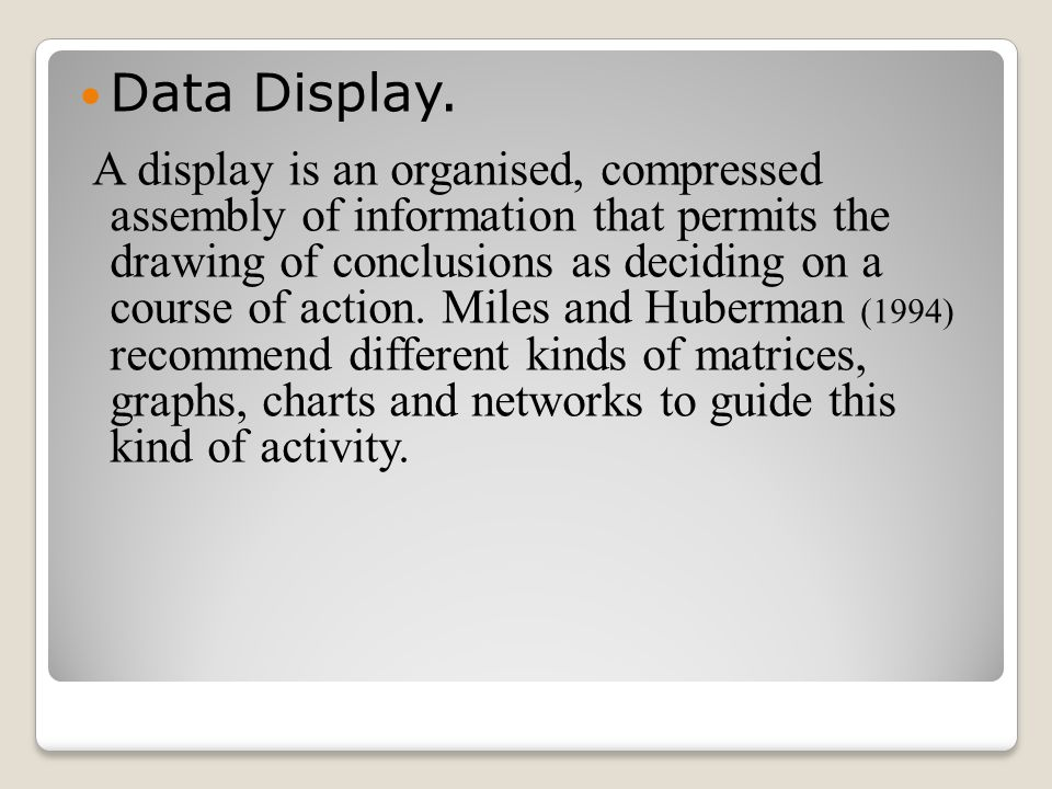Data Display.