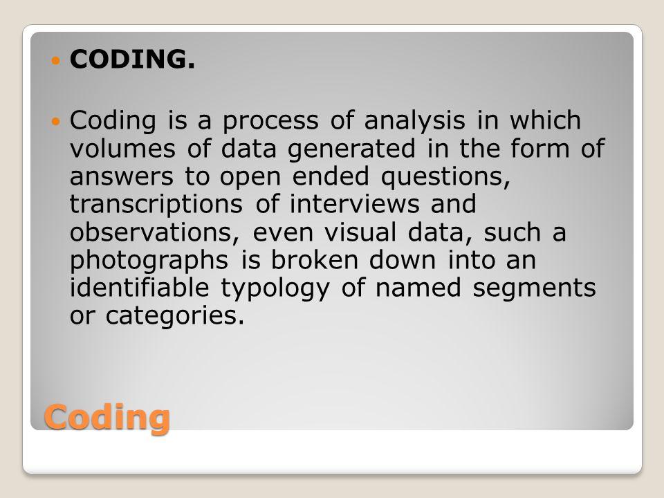 Coding CODING.