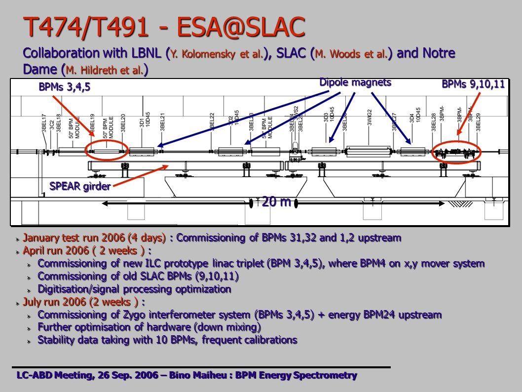 T474/T491 - ESA@SLAC LC-ABD Meeting, 26 Sep.