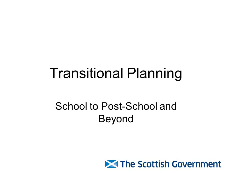 Transitional Planning School to Post-School and Beyond