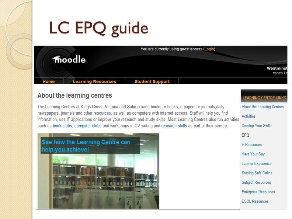 LC EPQ guide