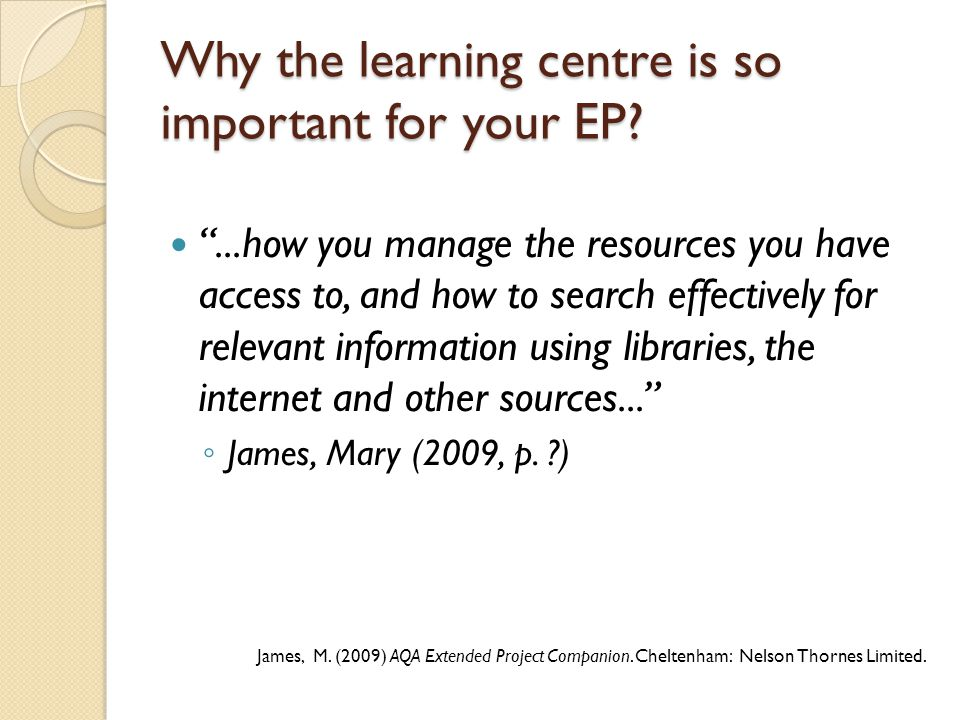 The learning centre can help you with...