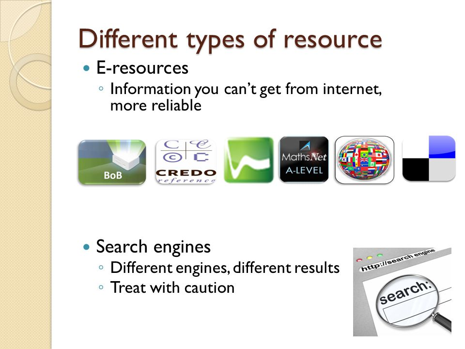 Types of resources contd...