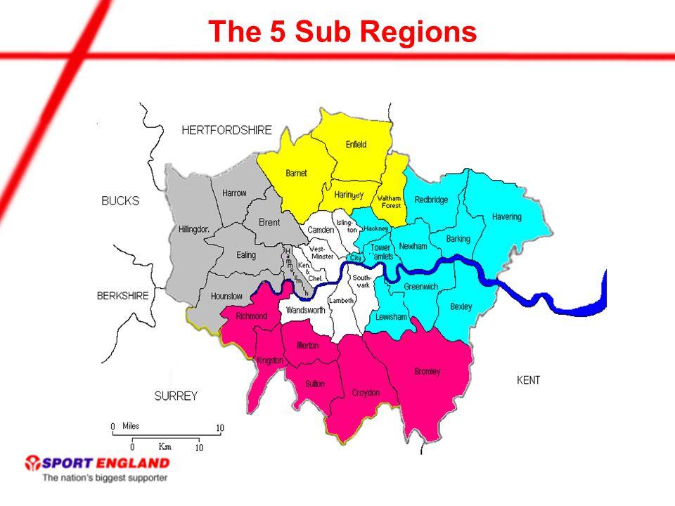 The 5 Sub Regions