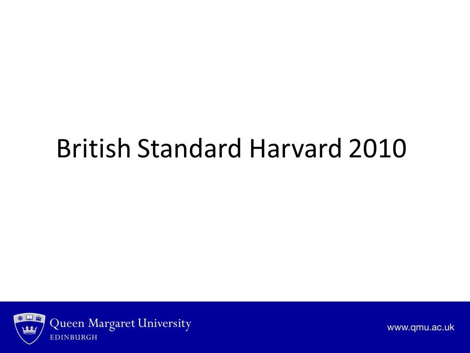 British Standard Harvard 2010